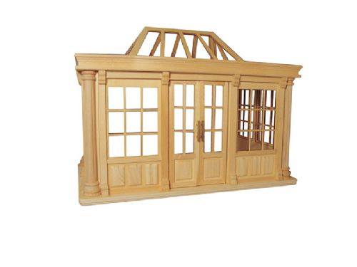 Deluxe Dolls house conservatory unpainted